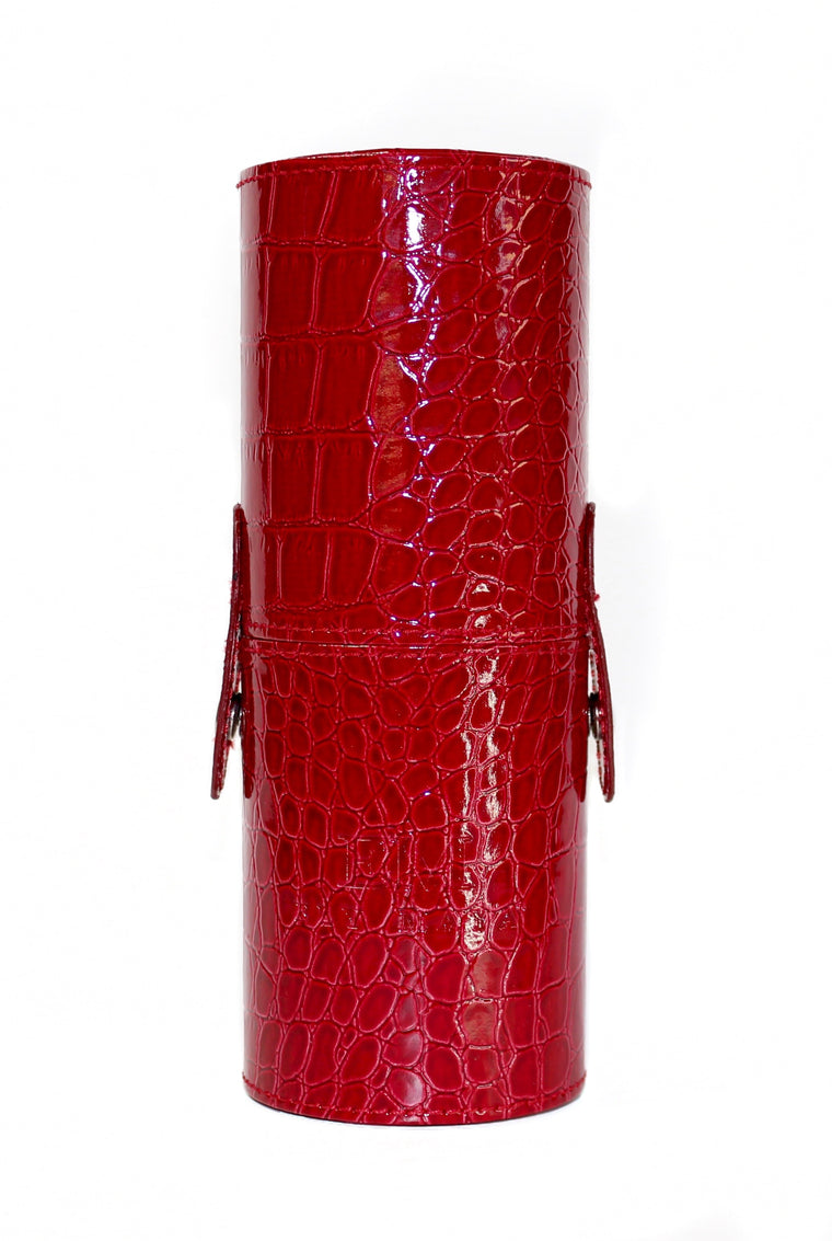 Red Snake Skin Brush Case SMALL
