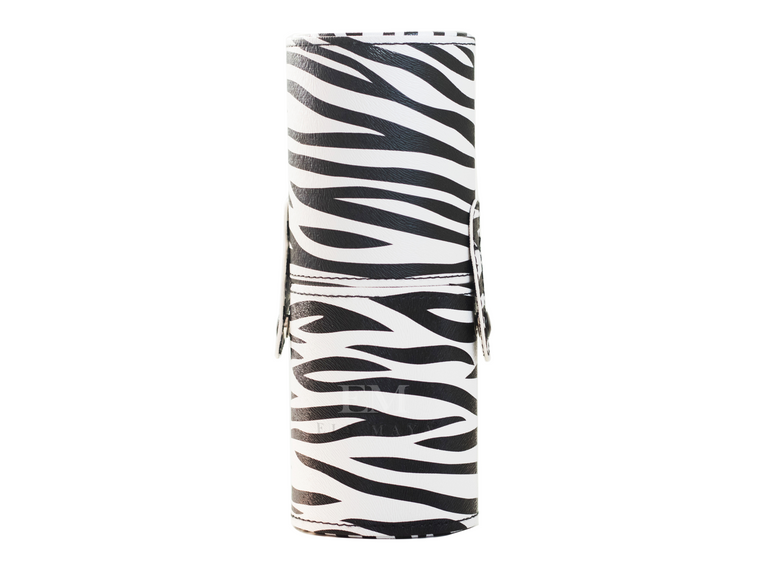 Zebra Print Brush Case SMALL - Ely Maya