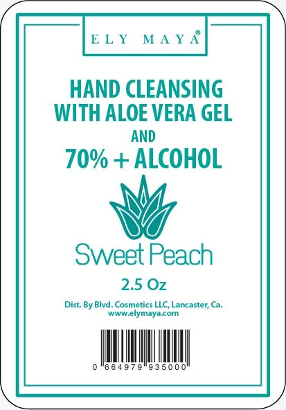 Sanitizer Gel With 70%+ Alcohol in Sweet Peach