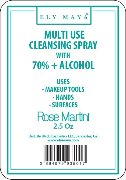 Sanitizer Spray With 70%+ Alcohol in Rose Martini