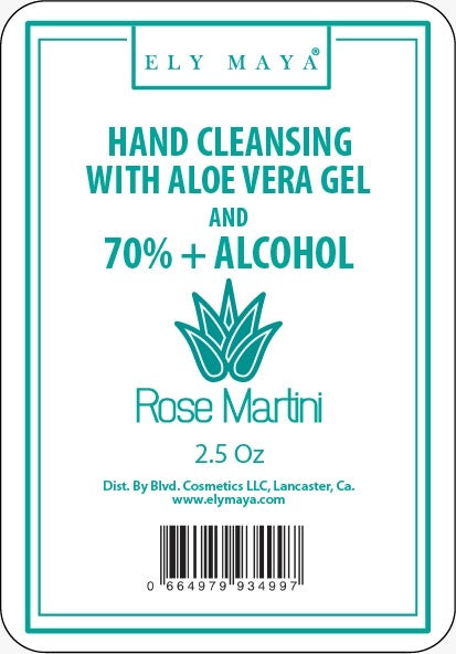 Sanitizer Gel With 70%+ Alcohol in Rose Martini
