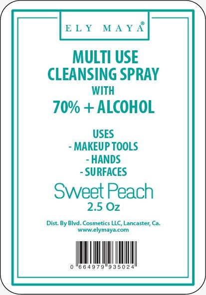 Sanitizer Spray With 70%+ Alcohol in Sweet Peach