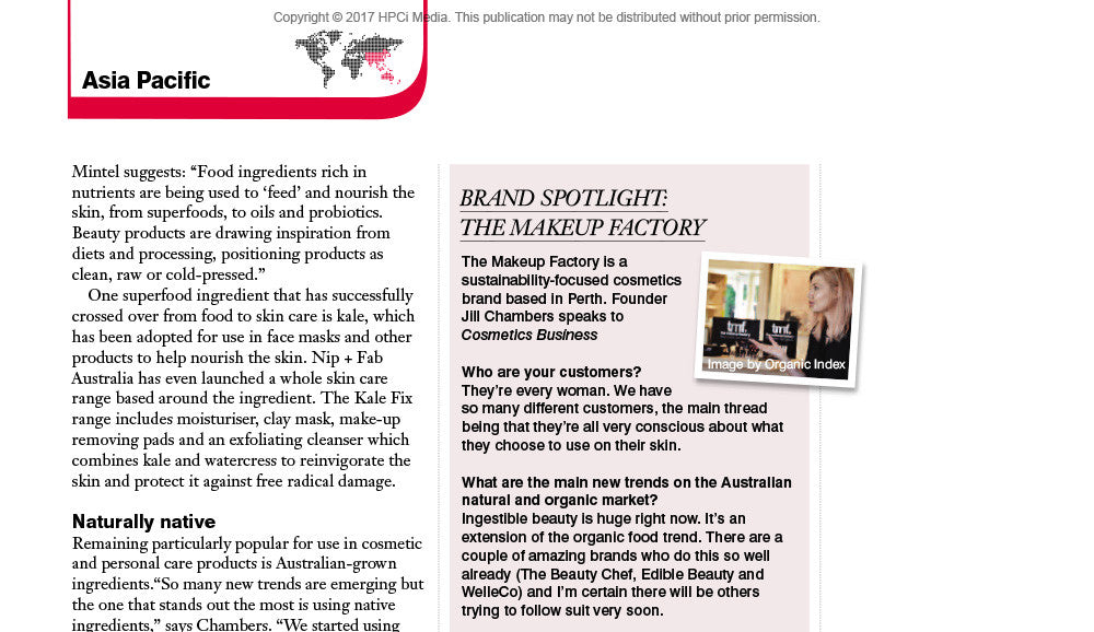 tmf cosmetic business magazine feature