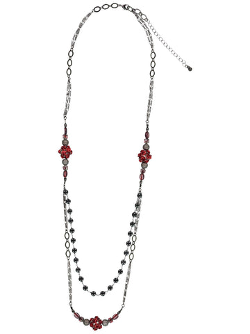 Style: A310NK07IMP,  Imperial Czech Glass Red Bead Necklace