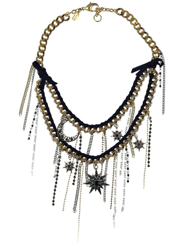 Style: A314NK01GOL,  Galaxy Inspired Necklace