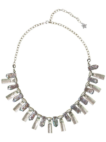 Style: A320NK02MOT,  Iridescent Freshwater Pearl Necklace