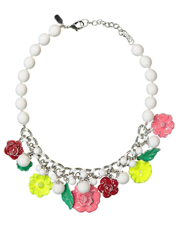 Style: A320NK08WHI,  Garland Enamel Necklace