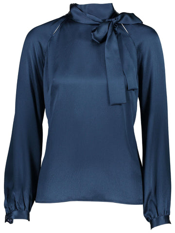 Style: M310BL13NEP,  Hammered Silk Self Tie Blouse