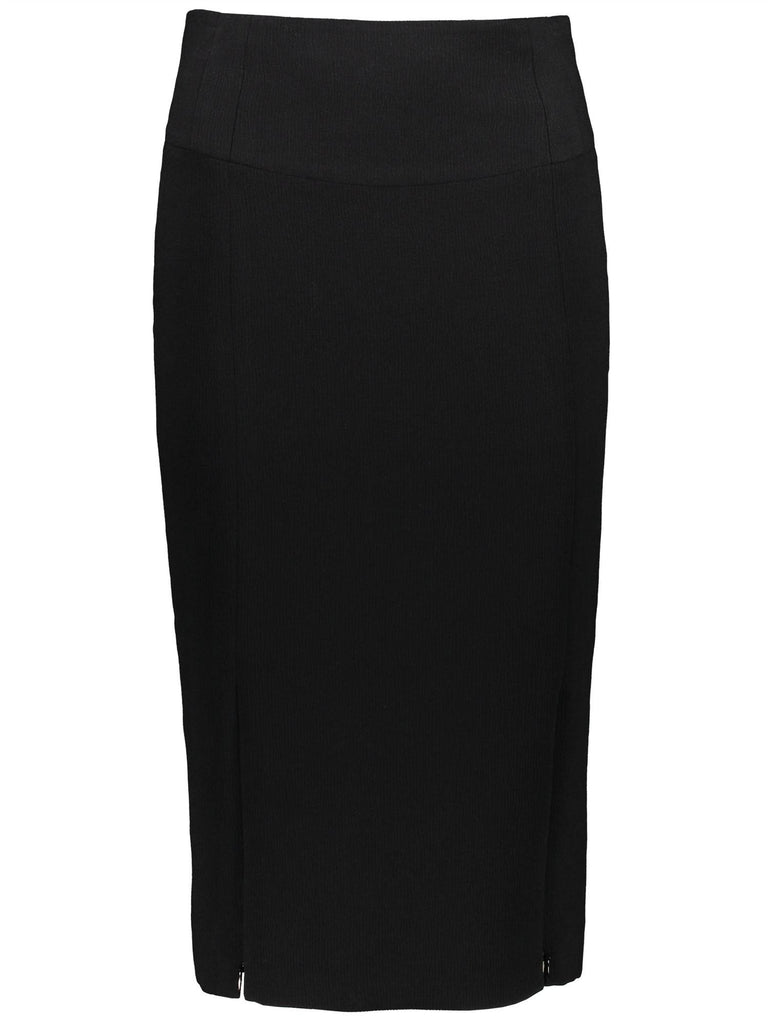 Style: M310SK01BLA,  Textured High Waisted Pencil Skirt