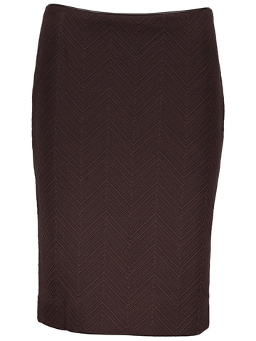 Style: M311SK43ESP,  Chevron Knit Jacquard Pencil  Skirt