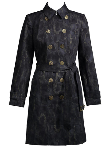 Style: M314CT19DEN,  Marbled Denim Coat