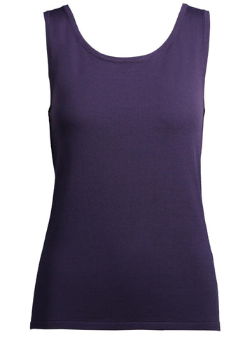Style: M314KT34PUR,  Scoop Neck Knit Tank