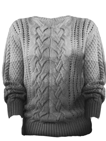 Ombré Cable Knit Sweater
