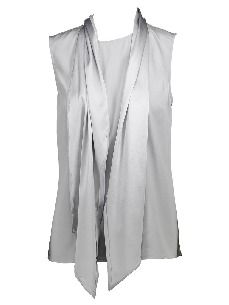 Style: M320BL08DOV,  Silk Satin Back Crepe Blouse