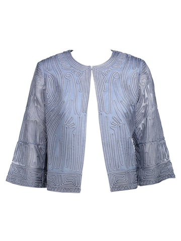 Style: M320JK06SLA,  Embroidered Organza Jacket