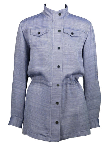 Style: M320JK28CHA,  Viscose Chambray Denim Jacket