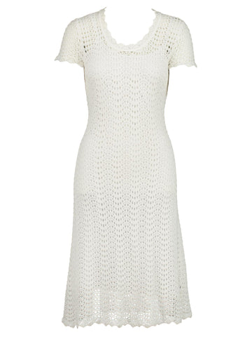 Style: M320KD64SOF,  Linen Cotton Crochet Dress