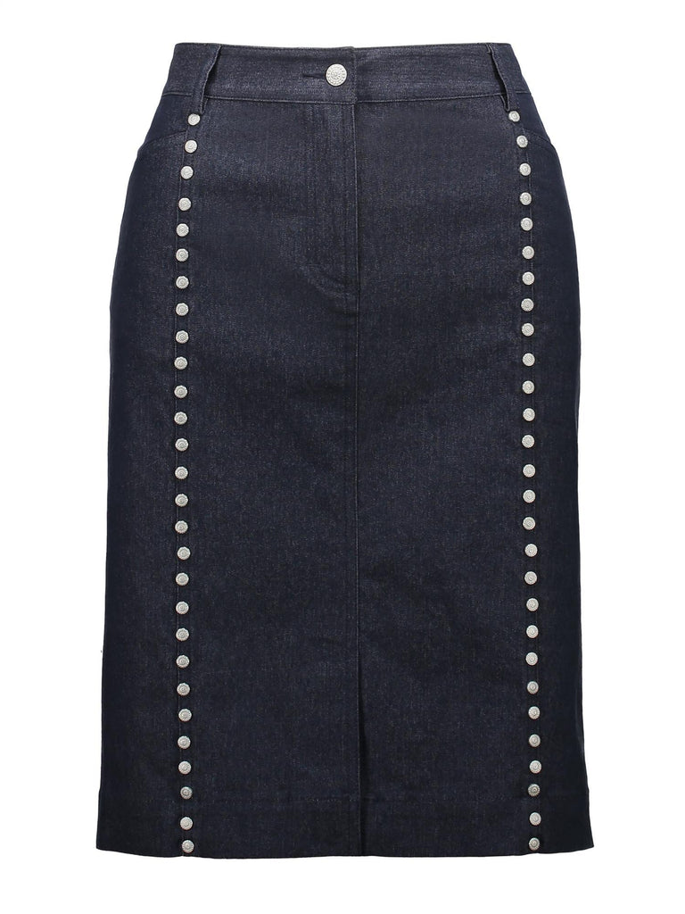 Style: M320SK30IND,  Indigo Stretch Denim Pencil Skirt