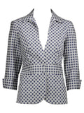 Matelassé Gingham Shirt Jacket