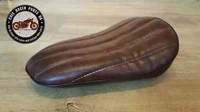 Cafe Racer Bobber Motorcycle Seat in Brown Bobber Cruiser Chopper Solo Seat, Seats & Seat Covers - Cafe Racer Parts UK