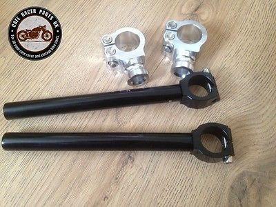 CAFE RACER 32mm MOTORBIKE CLIP ON FORK HANDLEBAR UNIVERSAL FIT HIGH QUALITY CNC, Handlebars - Cafe Racer Parts UK