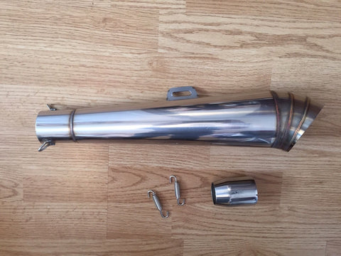 Cafe Racer Grand Prix Race Style Stainless Steel Exhaust, Silencers - Cafe Racer Parts UK