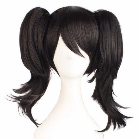 Cosplay Wig Medium Straight With Double Ponytails