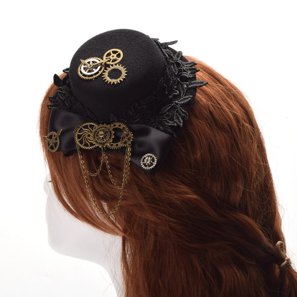 Lolita Steampunk Small Hair Clip Hat