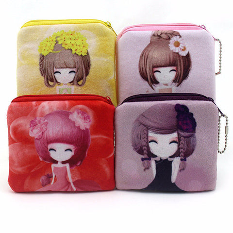 Kawaii Lolita Girl Velour Purse