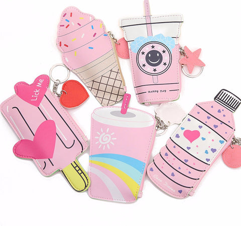 Pinkie Kawaii Candy Keyring Purses