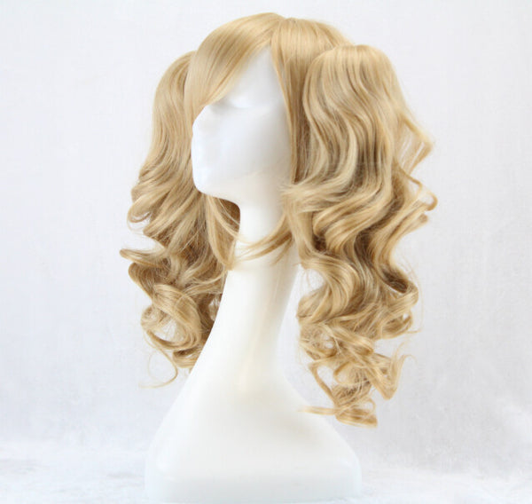 Double Ponytails Blonde Curly Lolita Wig