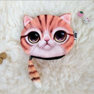 Kawaii Zip-Tail Cat Coin Purse
