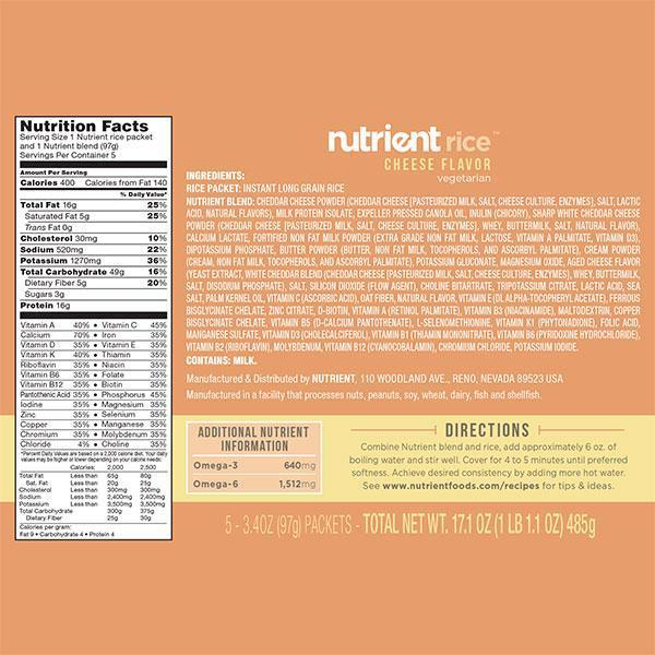 Nutrient Rice 5-pack-Bold-Nutrient-Cheese-Nutrient