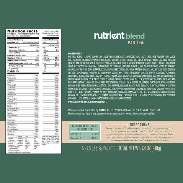 Nutrient Flavor Packs-Bold-Nutrient-Beans-Nutrient