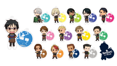 Yuri On Ice: Animate Cafe Vol. 1 Acrylic Charms/Stands