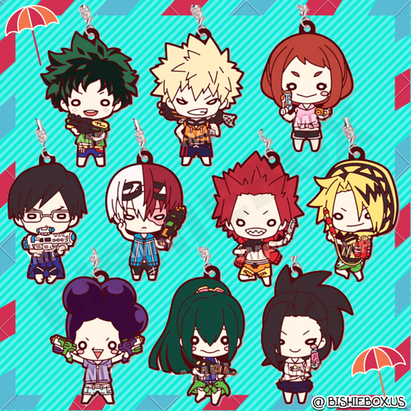 Hero Academia: Water Gun Rubber Straps