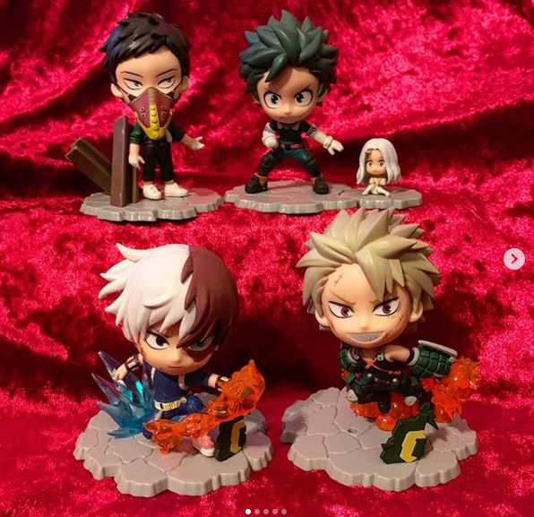 Hero Academia: Boy Meets... Kuji (Deku & Eri and Overhaul) Kyunkara Figurines