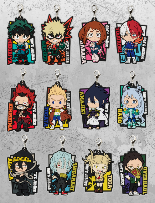 Hero Academia: Fighting Heroes feat. One's Justice RUBBER STRAPS
