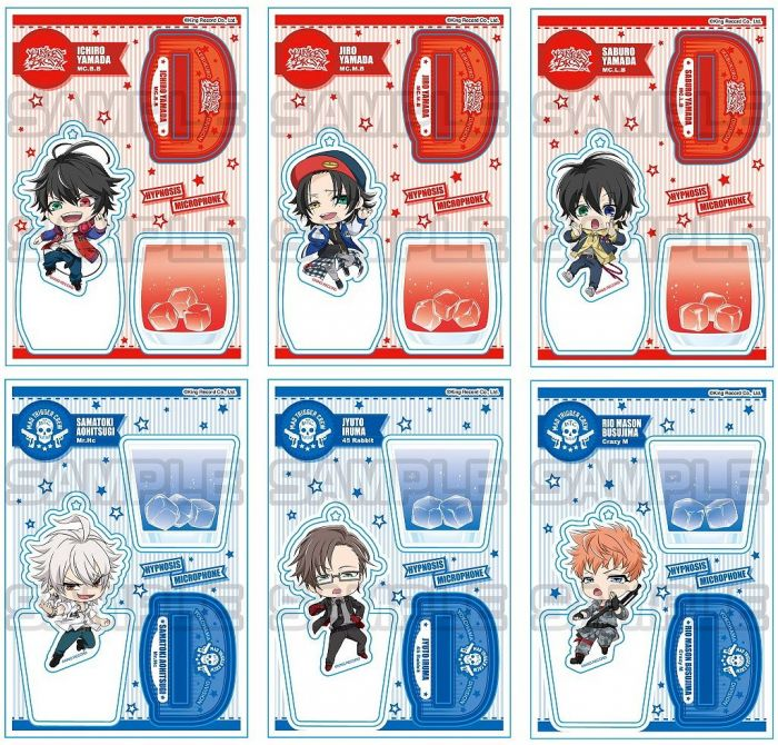 Hypnosis Mic: Glass Acrylic Stands (Ball Chain Included) IKEBUKURO/YOKOHAMA