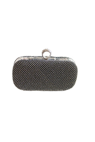 Ring Clasp Sparkly Clutch, Clutch, Carte Blanche Boutique - Carte Blanche Boutique