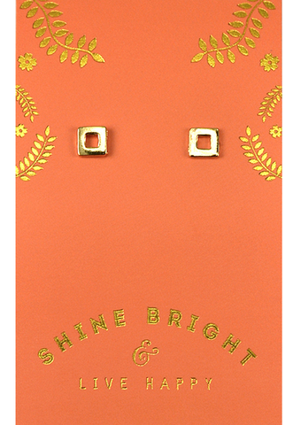 Live Happy Earrings, Earrings, Carte Blanche Boutique - Carte Blanche Boutique