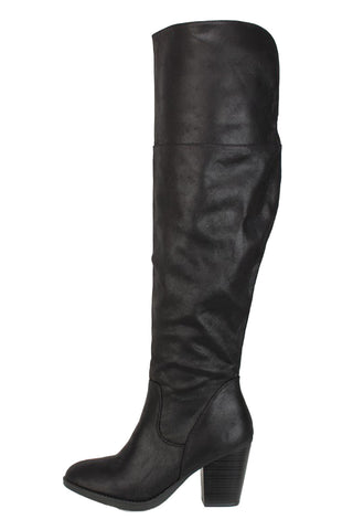Elsa Over-the-Knee Boots, Boots, Soda - Carte Blanche Boutique