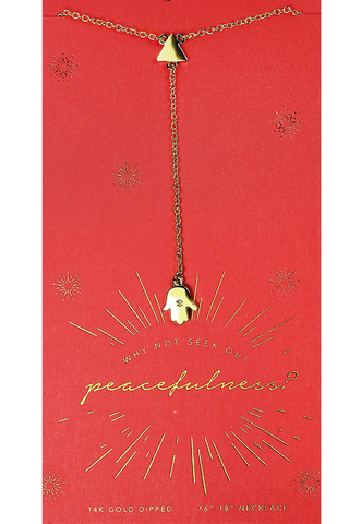 Seek Out Peace Necklace, Necklace, Carte Blanche Boutique - Carte Blanche Boutique