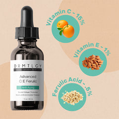 DRMTLGY Advanced C E Ferulic with percentages