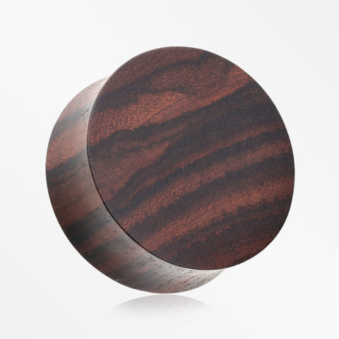 A Pair of Rosewood Double Flared Plug-Orange/Brown