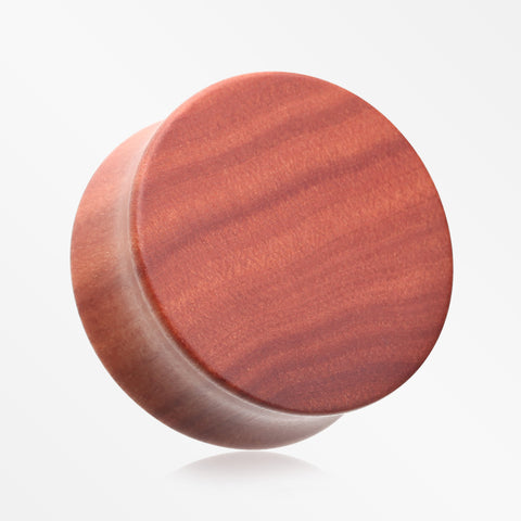 A Pair of Sabo Wood Double Flared Plug-Orange/Brown