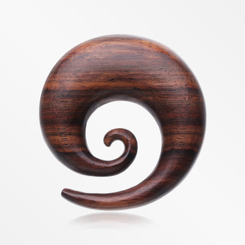 A Pair of Rosewood Spiral Hanger Plug-Orange/Brown