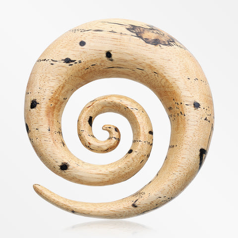 A Pair of Old Tamarind Wood Super Spiral Hanger Plug