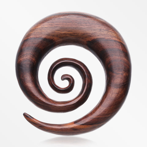 A Pair of Rosewood Super Spiral Hanger Plug-Orange/Brown