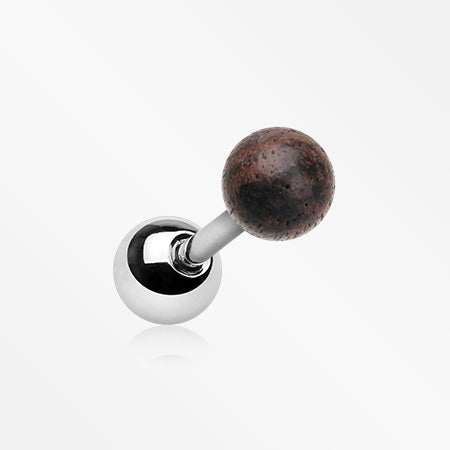 Ebony Wood Ball Top Cartilage Tragus Barbell